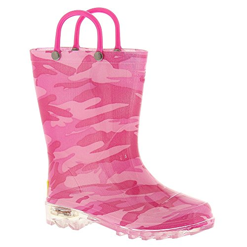 Western Chief Camo Lighted Rain Boot (Infant/Toddler/Little Kid),Fushia,8 M Us Toddler front-768163