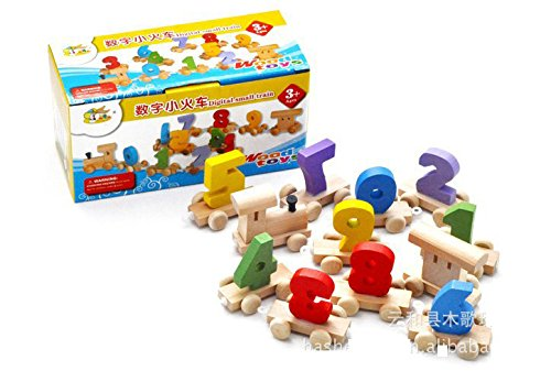 Metee: Wood 0-9 Small Train Children's Intellectual Educational Toys Baby Toys Educational Toys Minifigure (Wooden Small Ninja Sword compare prices)