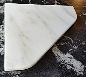 "Amazon 8"" Marble Shower Corner Shelf Carrara Bianco"
