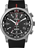Timex Intelligent Quartz Men's Compass Watch with Black Dial Analogue Display and Black Silicone - T2N724