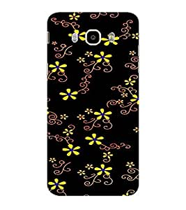 ifasho Animated Pattern colrful design flower with leaves Back Case Cover for Samsung Galaxy On8