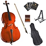 Cecilio 4/4 CCO-100 Student Cello Outfit with Soft Case, Bow, Rosin, Bridge, Strings and Stand