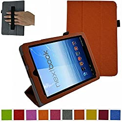 Mama Mouth Slim Lightweight Folio 3-folding with Interior Hand Strap Cute Texture Case for 7.85