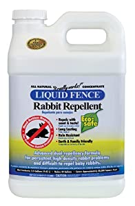 Liquid Fence Rabbit Repellent, 2.5-Gallon Concentrate