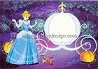 1/4 Sheet ~ Cinderella Photo Frame Birthday ~ Edible Image Cake/Cupcake Topper!!!