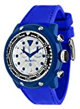 Glam Rock Unisex Quartz Watch With White Dial Analogue Display And Silicone Bracelet 0.96.2439
