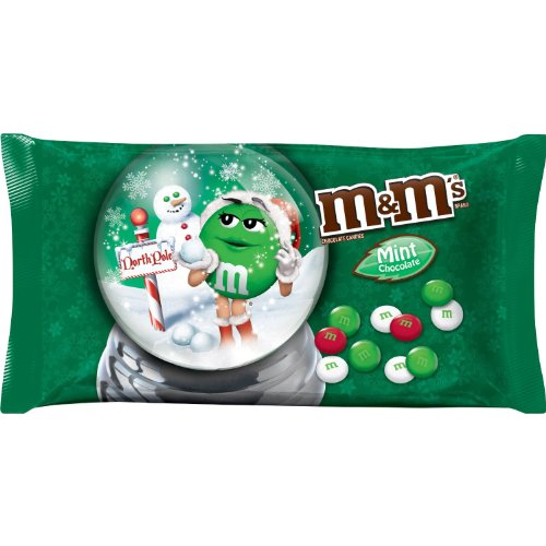M&m's Mint Chocolate, Christmas Red, Green and