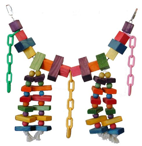 Cheap Super Bird Creations 29 by 13-Inch Rainbow Bridge Bird Toy, X-Large (SB441)