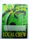 2011 Rush Satin Backstage Pass Time Machine Tour Local Crew Green