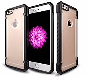 Kapa Beetle Shock Proof Frosted Back Case Cover for Apple Iphone 6 6S - Black