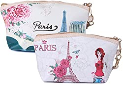 Diwali Gifts for Women Magic of Paris Multipurpose Pouch or Purse - Set of 2 (PU-001037-38-COMBO)