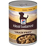 Hill's Ideal Balance Grain-Free Slow-Cooked Chicken Recipe Dog Food Can, 12.8-Ounce, 12-Pack