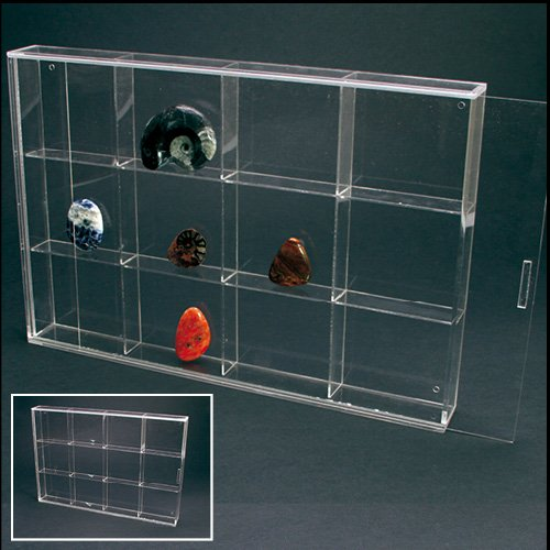 Acrylic Glass Display Case for Rocks, Minerals & Figurines (Rock Display Glass compare prices)