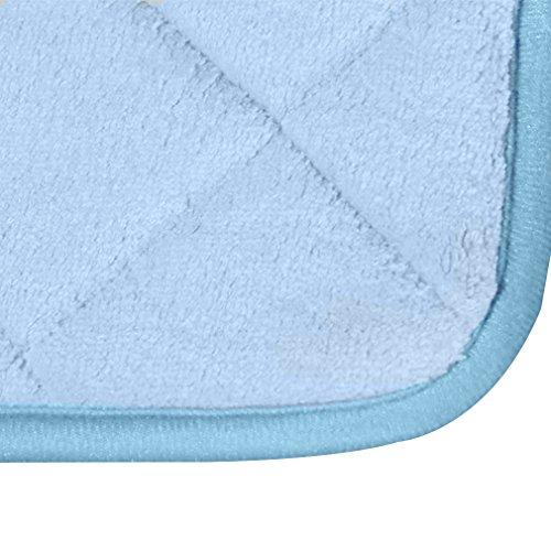 Bath Rug, Soft Mat,15.5quot;L By 23.5quot;W, Light Blue Home Garden Bat
