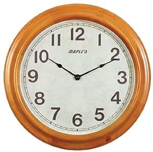 Maple 39 S 16 Inch Wooden Round Wall Clock Home Kitchen