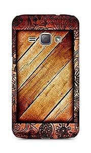 Amez designer printed 3d premium high quality back case cover for Samsung Galaxy J1 (2016 EDITION) (Wodden Frame)