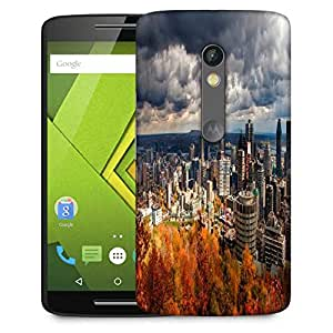 Snoogg Autumn Cityscapes Designer Protective Phone Back Case Cover For Moto G 3rd Generation