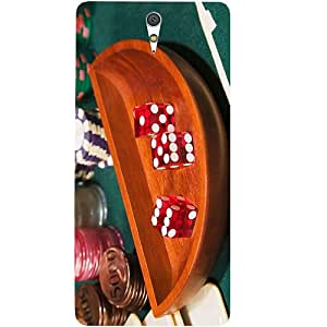 Casotec Casino Game Design Hard Back Case Cover for Sony Xperia C5 Ultra Dual