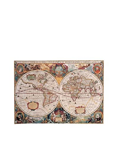 Henricus Hondius Antique World Map Canvas Wall Mural