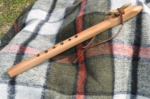 Native American Style G scale Cedar Wood flute BY CRAZY BEAR
