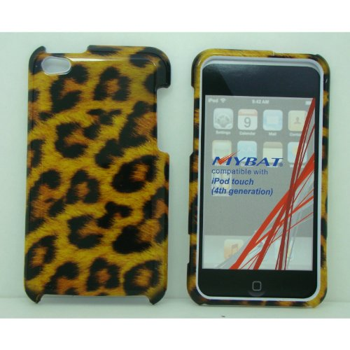 [Wg] Ipod Touch 4 4G 4Th Generation Leopard Cheetah Design Hard Faceplate Protector Case Cover + Free Stereo Headset With Microphone + Free Low-Profile Small Mini Usb Car Charger