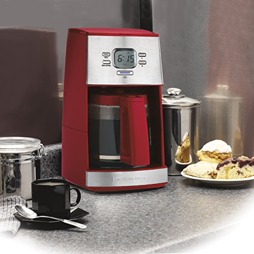 Hamilton-Beach-12-Cup-Coffee-Maker-with-Glass-Carafe-Ensemble-Red-43253RA