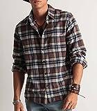 (バレッタ) Valletta ネルチェックシャツ 長袖 メンズ ネルシャツ チェック柄 起毛 暖かい 腰巻き 肩掛け ストリートモード カジュアル 31ブラウン×ネイビー Mサイズ
