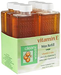 Clean & Easy Wax Refill 6-pack Large Vitamin E 16.8 OZ