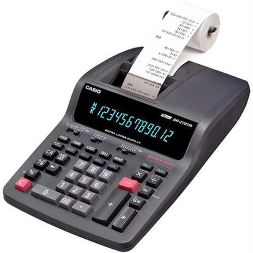 Office Equipment-Casio Heavy-Duty 12-Digit Printing Calculator with 2-Color Printing and Extra-Large Display