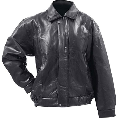 Giovanni Navarre Italian Stone Design Genuine Buffalo Leather Bomber Jacket- M