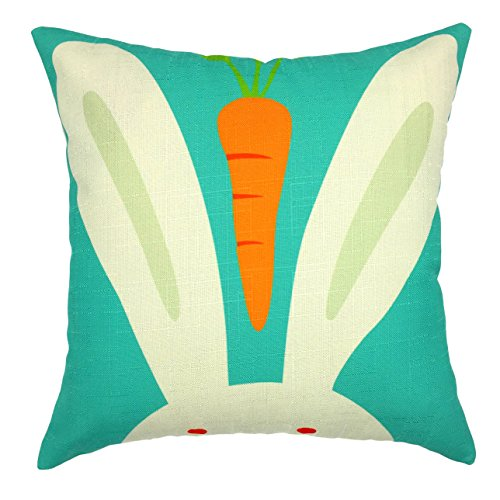 YOUR SMILE Rabbit Carrot Square Decorative Throw Pillows Case Cushion Covers Shell Cotton Linen Blend 18 X 18 Inches (Pillow Case Quilted compare prices)