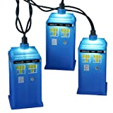 Doctor Who Kurt Adler UL 10-Light Tardis Light Set, Blue