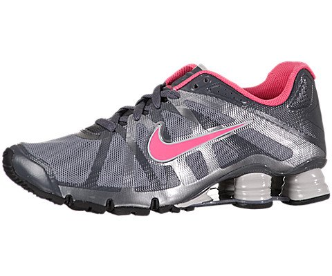 Nike Women's Shox Roadster+ - Stealth / Pink Flash-Dark Grey-Black, 6.5 B US