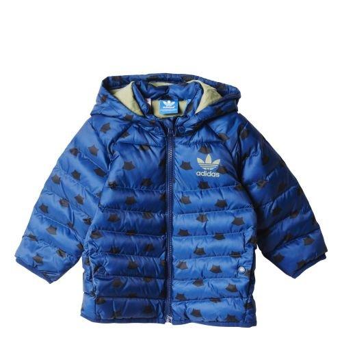 Adidas I MF Midsjacket-Piumino da bambino, colore: blu/nero/argento, taglia 74