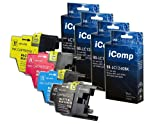 4x Compatible LC1240 LC1280 Printer Ink Cartridges - Black / Cyan / Magenta / Yellow for Brother DCP-J525W DCP-J725DW DCP-J925DW MFC-J430W MFC-J625DW MFC-J6510DW MFC-J6710D MFC-J6710DW MFC-J6910DW MFC-J825DW
