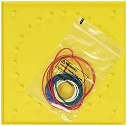 School Smart Double-Sided Geoboards - 5 x 5 Pins - Set of 5 - Yellow