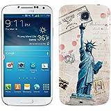 kwmobile® Akku-Deckel mit Stadt Design (New York) für das Samsung Galaxy S4 i9505 / i9506 LTE+ in Beige Blau