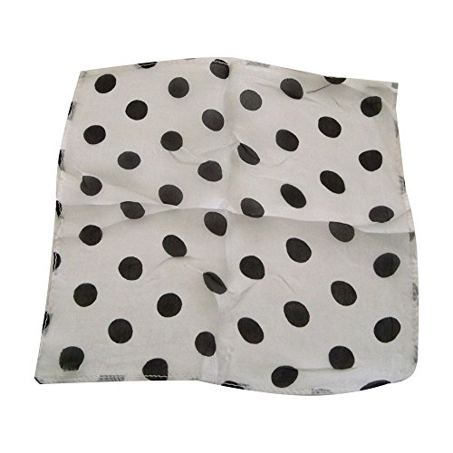 "MMS Spotted Silk 09"" White with Black Spots by Uday"