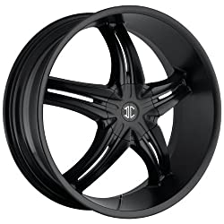 2CRAVE – no.5 – 17 Inch Rim x 7.5 – (5×100/5×4.5) Offset (40) Wheel Finish – satin black