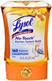Lysol No Touch Single Refill Kitchen System,Sparkling Tangerine, 8.5 Ounce. (1 Refill Only)