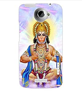 ColourCraft Lord Hanuman Design Back Case Cover for HTC ONE X