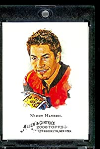 2008 Topps Allen and Ginter # 59 Nicky Hayden ( Motorcycle Racing Champion ) MLB Baseball Card in