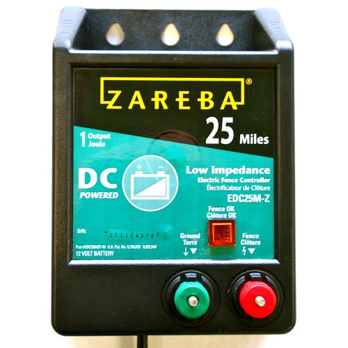 Zareba Edc25M-Z 25-Mile Battery Operated Solid State Fence Charger