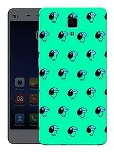 "Humor Gang Cute Birds - Green Printed Designer Mobile Back Cover For ""Xiaomi Redmi Mi4"" (3D, Matte Finish, Premium Quality, Protective Snap On Slim Hard Phone Case, Multi Color)"