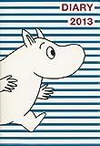 MOOMIN DIARY 2013 cover design by NIMES MOOMIN×blue border