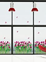 Ambiance Sticker Vinilo Decorativo Dreaming Tulips Flowers