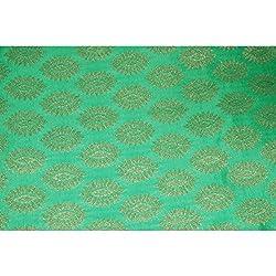 Aagaman Fashions Brocade Fabrics (TSFB033_Green)