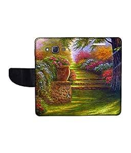 KolorEdge Printed Flip Cover For Samsung Galaxy J5 Multicolor - (1478-50KeMLogo11046SamJ5)