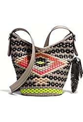 Coach Mini Multicolor Woven Crossbody Bag