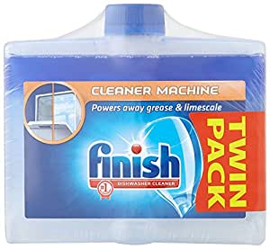 Finish Dishwasher Cleaner Dual Action Twin Pack - 2 x 250 ml